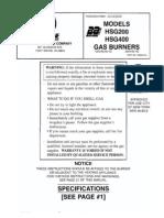 Manual 62484001b Hsg200400 Gas Powered Burners English