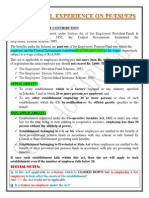 A PRACTICAL EXPERIENCE ON PF,ESI,PENSION,AND GRATUITY