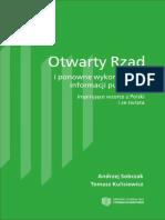 Otwarty Rząd i ponowne wykorzystanie informacji publicznej - inspirujące wzorce z Polski i ze świata. Wydanie I