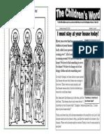 Children's Word bulletin for Sunday, January 26th, 2014