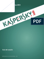 Manual Kaspersky Antivirus 2013