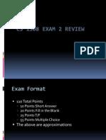 Exam 2 Review