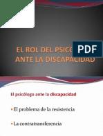El Rol Del Psicologo Ante La DISCAPACIDAD