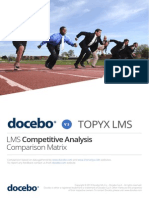 Lms Comparison Matrix - Docebo & Topyx Learning Management Systems