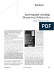 Knowing and Teaching Mathematics - Review - Howe - 1999