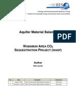 Aquifer Material Balances