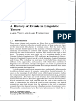 A History of Events in Linguistic Theory