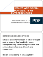 Ethical Issues Social Responsibility