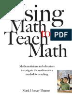 MSRI - Using Math to Teach Math - 060728