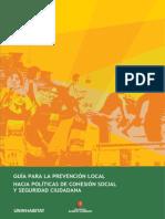 Presentación Ciudades más Seguras_Guía de Prevención Local de Políticas de Cohesion Social y Seguridad Ciudadana