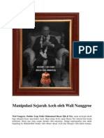 Manipulasi Sejarah Aceh Oleh Wali Nanggroe