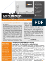 Summer 2013 Parliamentary bulletin, English version - Tyrone Benskin
