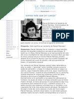 """""""No somos más que un cuerpo"""". LA RATONERA, Revista asturiana de teatro"""