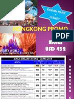 Hongkong Promo Ocean Park + Disney