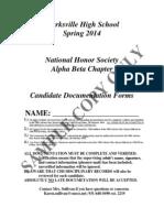 2014 nhs candidate documentation form