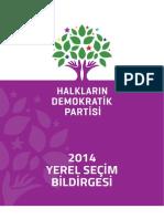 2014 Yerel Secim Bildirgesi