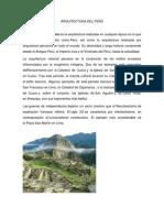 ARQUITECTURA DEL PERÚ