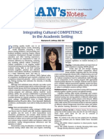 Deans Notes Integrating Cultural COMPETENCE Jan12