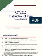 aet515 instructional plan pts i ii  iii