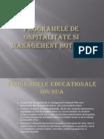 Programele de Ospitalitate Si Management Hotelier