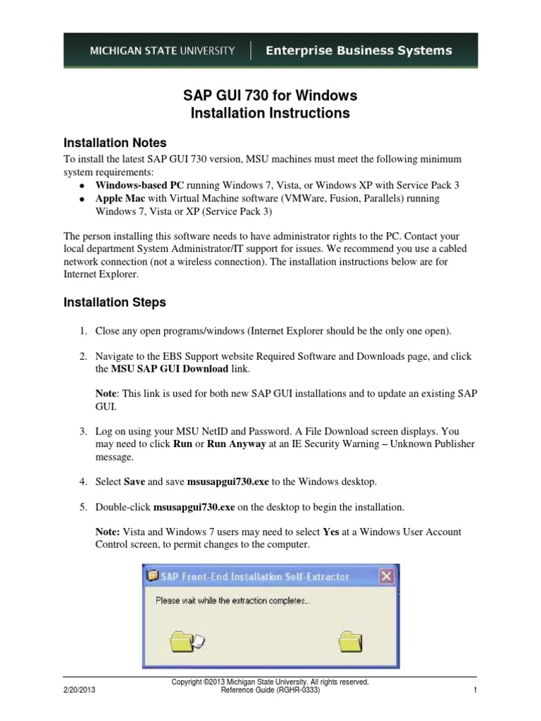 Sap Gui Download Instructions | Graphical User Interfaces