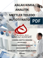 Makalah Mettler Toledo Autotitrator (Titrasi Potensiometri Automatik)