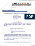 Clasificacion de Los Documentos Pontificios.