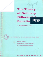 J. C. Burkill-Theory of Ordinary Differential Equations