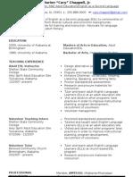 New Resume September 2009