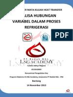 Analisis Hubungan Variabel Refrigerasi