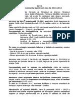 Nota Privind Accidentul Aviatic Din 20 Ianuarie 2014