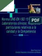 Estandar UNE EN ISO 15189