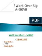 DPR of Work Over Rig a-50VII
