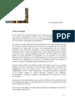 Lettre Aux Militants 21 Septembre 09