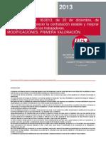 Cuadro comparativo y análisis RDL 16-2013