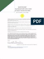 Special Assumpsit, Park Royal Mental Health Centre (ARDO)