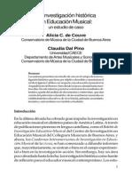 Couve Alicia - La Investigacion Historica en Educacion Musical