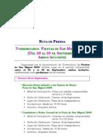 Programa feria Torremolinos 2009 (nota de prensa)