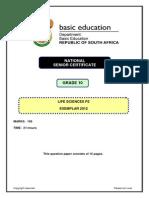 Life Sciences P2 GR 10 Exemplar 2012