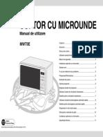 Manual utilizare cuptor microunde Samsung MW73E Prezentare si utilizare