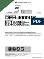 Pioneer Deh-3050ub 4000ub Crt4052 Sm