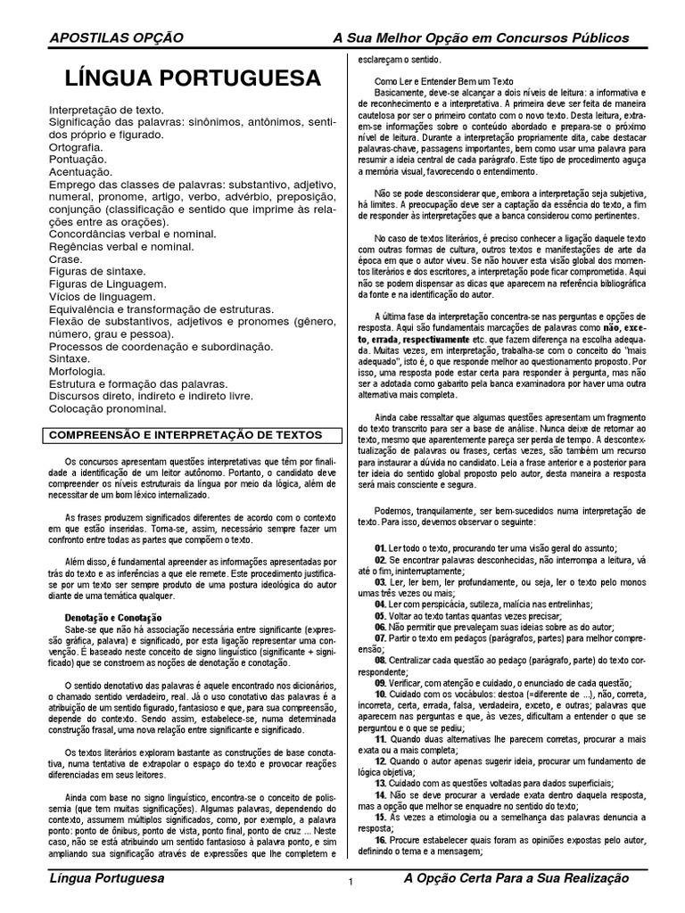 IPEM PE - ASSISTENTE - Língua Portuguesa 7b3392ec8e072