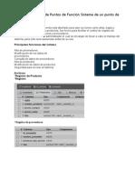 Ejercicio resuelto de Puntos de Función Sistema de un punto de venta