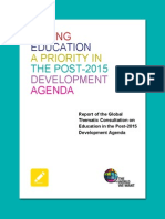 Envisioning education in the post-2015 development agenda
