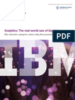 Business Intelligence Analytics the Real-world Use of Big Data