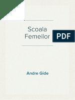 Andre Gide Scoala Femeilor
