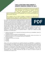 REUNIÓN CON LA DIRECTORA GENERAL Y RELACIONAMIENTO SINDICAL ENERO DE 2014