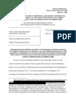 HP Motion to Compel EC Docs (Redacted)