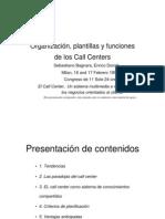 Organización plantillas y funciones de los Call Centers