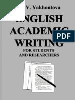 Academic Writing Yakhontova